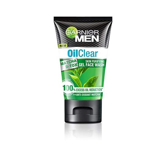 Garnier Men Oil Clear Matcha D-tox Gel Facewash, 50g