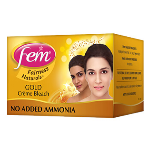 Fem Fairness Naturals Gold Creme Bleach Tube Pack, 40g