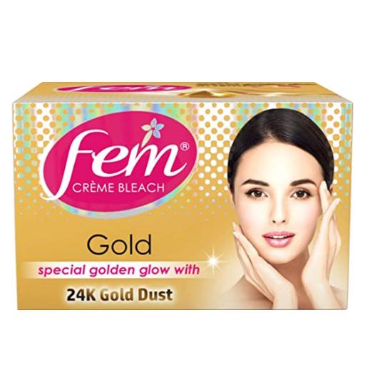 Fem Fairness Naturals Gold Skin Bleach, 8 g
