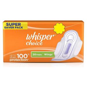 Whisper Choice Sanitary Napkins 20's
