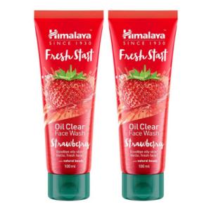 himalaya fresh start oil clear face wash strawberry