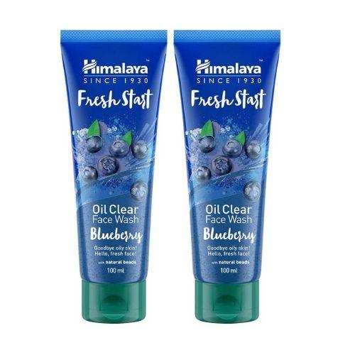 himalaya fresh start oil clear face wash blueberry