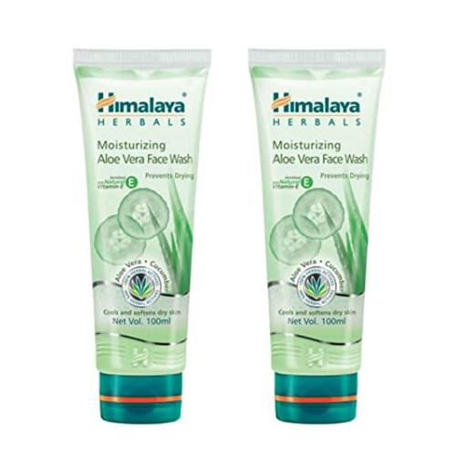 himalaya moisturizing aloe vera face wash 50ml